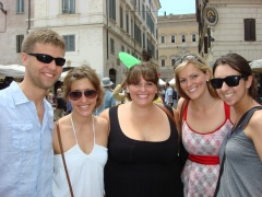 Kate with friends in Rome